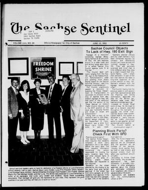 Primary view of object titled 'The Sachse Sentinel (Sachse, Tex.), Vol. 17, No. 26, Ed. 1 Tuesday, June 23, 1992'.