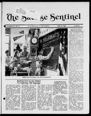 Primary view of object titled 'The Sachse Sentinel (Sachse, Tex.), Vol. 17, No. 27, Ed. 1 Tuesday, June 30, 1992'.