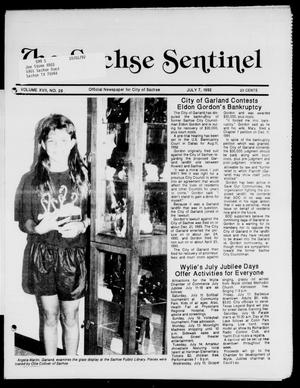 Primary view of object titled 'The Sachse Sentinel (Sachse, Tex.), Vol. 17, No. 28, Ed. 1 Tuesday, July 7, 1992'.