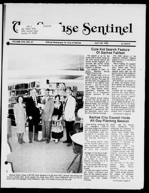 Primary view of object titled 'The Sachse Sentinel (Sachse, Tex.), Vol. 17, No. 31, Ed. 1 Tuesday, July 28, 1992'.