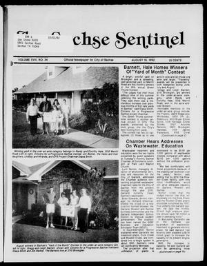 Primary view of object titled 'The Sachse Sentinel (Sachse, Tex.), Vol. 17, No. 34, Ed. 1 Tuesday, August 18, 1992'.