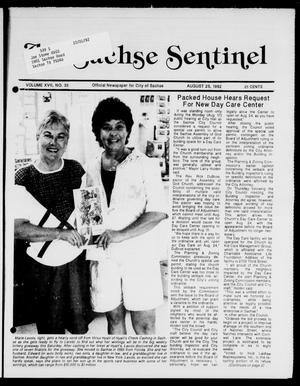 Primary view of object titled 'The Sachse Sentinel (Sachse, Tex.), Vol. 17, No. 35, Ed. 1 Tuesday, August 25, 1992'.