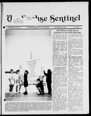Primary view of object titled 'The Sachse Sentinel (Sachse, Tex.), Vol. 17, No. 43, Ed. 1 Tuesday, October 20, 1992'.