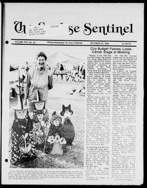 Primary view of object titled 'The Sachse Sentinel (Sachse, Tex.), Vol. 17, No. 44, Ed. 1 Tuesday, October 27, 1992'.