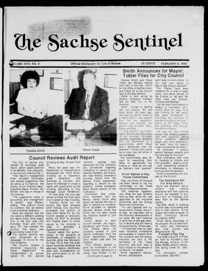 Primary view of object titled 'The Sachse Sentinel (Sachse, Tex.), Vol. 18, No. 6, Ed. 1 Tuesday, February 9, 1993'.