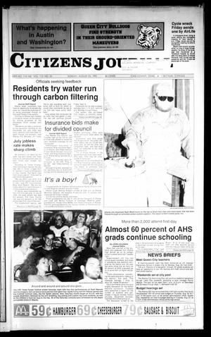 Primary view of object titled 'Citizens Journal (Atlanta, Tex.), Vol. 113, No. 25, Ed. 1 Sunday, August 25, 1991'.