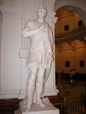 Primary view of object titled 'Statue of Sam Houston inside the Texas State Capitol'.