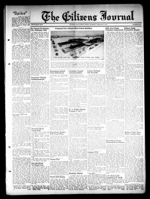 Primary view of object titled 'The Citizens Journal (Atlanta, Tex.), Vol. 70, No. 5, Ed. 1 Thursday, February 3, 1949'.
