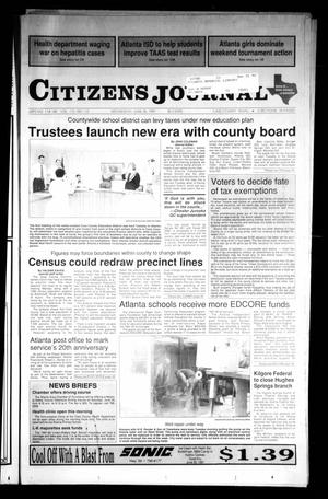 Primary view of object titled 'Citizens Journal (Atlanta, Tex.), Vol. 112, No. 112, Ed. 1 Wednesday, June 26, 1991'.