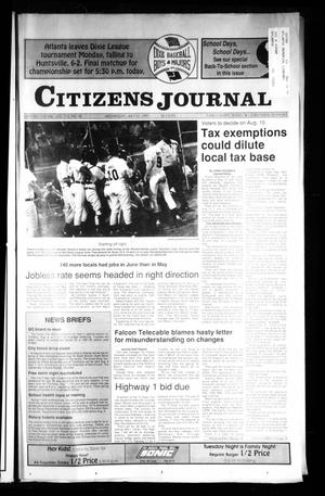 Primary view of object titled 'Citizens Journal (Atlanta, Tex.), Vol. 113, No. 18, Ed. 1 Wednesday, July 31, 1991'.