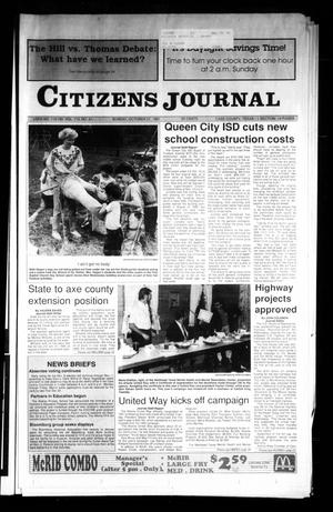 Primary view of object titled 'Citizens Journal (Atlanta, Tex.), Vol. 113, No. 41, Ed. 1 Sunday, October 27, 1991'.
