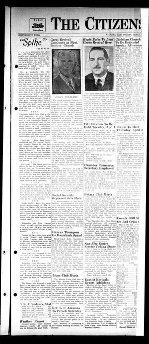 Primary view of object titled 'The Citizens Journal (Atlanta, Tex.), Vol. 68, No. [13], Ed. 1 Thursday, March 27, 1947'.