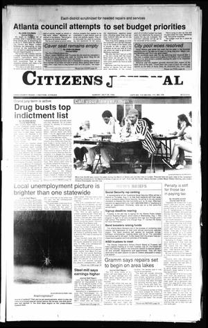 Primary view of object titled 'Citizens Journal (Atlanta, Tex.), Vol. 111, No. 124, Ed. 1 Sunday, July 29, 1990'.