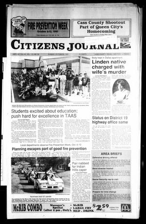 Primary view of object titled 'Citizens Journal (Atlanta, Tex.), Vol. 113, No. 36, Ed. 1 Sunday, October 6, 1991'.
