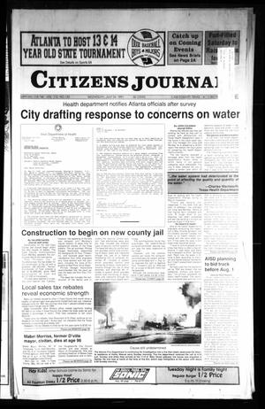 Primary view of object titled 'Citizens Journal (Atlanta, Tex.), Vol. 112, No. 120, Ed. 1 Wednesday, July 24, 1991'.