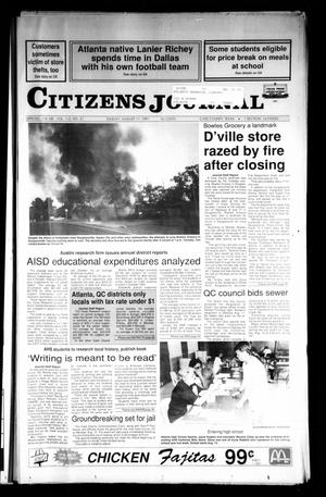 Primary view of object titled 'Citizens Journal (Atlanta, Tex.), Vol. 113, No. 21, Ed. 1 Sunday, August 11, 1991'.