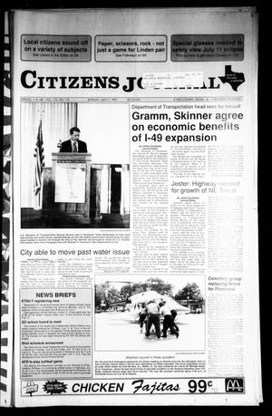 Primary view of object titled 'Citizens Journal (Atlanta, Tex.), Vol. 112, No. 115, Ed. 1 Sunday, July 7, 1991'.
