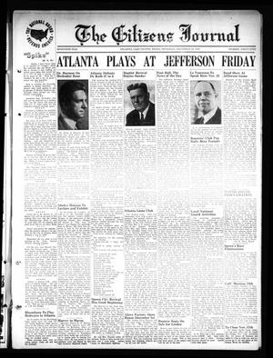 Primary view of object titled 'The Citizens Journal (Atlanta, Tex.), Vol. 70, No. 45, Ed. 1 Thursday, November 10, 1949'.