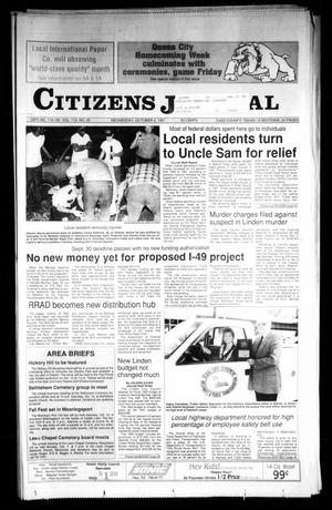 Primary view of object titled 'Citizens Journal (Atlanta, Tex.), Vol. 113, No. 35, Ed. 1 Wednesday, October 2, 1991'.