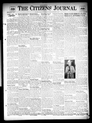 Primary view of object titled 'The Citizens Journal (Atlanta, Tex.), Vol. 68, No. 36, Ed. 1 Thursday, September 4, 1947'.