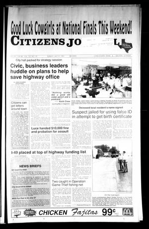 Primary view of object titled 'Citizens Journal (Atlanta, Tex.), Vol. 112, No. 119, Ed. 1 Sunday, July 21, 1991'.