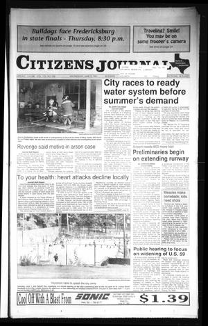Primary view of object titled 'Citizens Journal (Atlanta, Tex.), Vol. 112, No. 106, Ed. 1 Wednesday, June 5, 1991'.