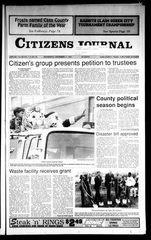 Primary view of object titled 'Citizens Journal (Atlanta, Tex.), Vol. 113, No. 54, Ed. 1 Wednesday, December 11, 1991'.