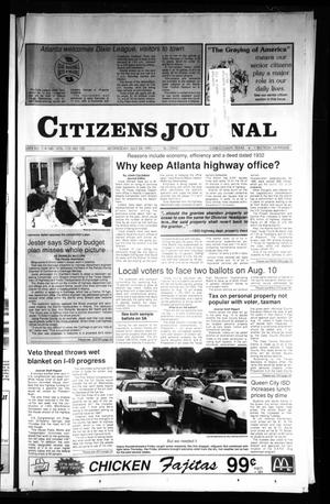 Primary view of object titled 'Citizens Journal (Atlanta, Tex.), Vol. 112, No. 121, Ed. 1 Sunday, July 28, 1991'.