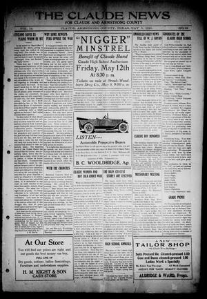 Primary view of object titled 'The Claude News (Claude, Tex.), Vol. 14, No. 33, Ed. 1 Friday, May 5, 1916'.