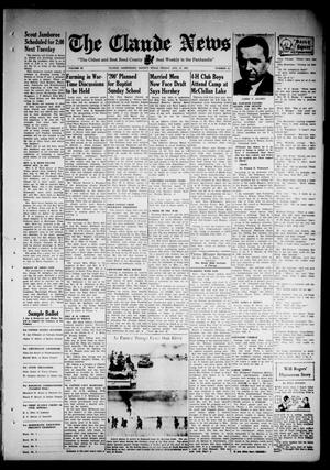 Primary view of object titled 'Claude News (Claude, Tex.), Vol. 53, No. 52, Ed. 1 Friday, August 21, 1942'.