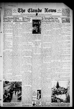 Primary view of object titled 'Claude News (Claude, Tex.), Vol. 52, No. 23, Ed. 1 Friday, January 31, 1941'.