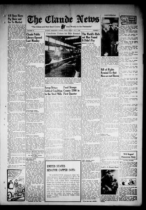 Primary view of object titled 'Claude News (Claude, Tex.), Vol. 54, No. 6, Ed. 1 Friday, October 2, 1942'.