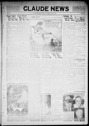 Primary view of object titled 'Claude News (Claude, Tex.), Vol. 46, No. 36, Ed. 1 Friday, May 10, 1935'.