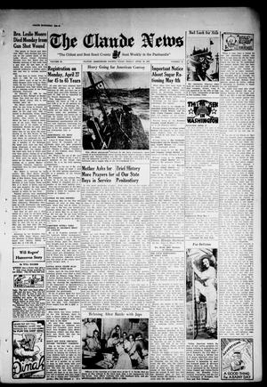 Primary view of object titled 'Claude News (Claude, Tex.), Vol. 53, No. 35, Ed. 1 Friday, April 24, 1942'.