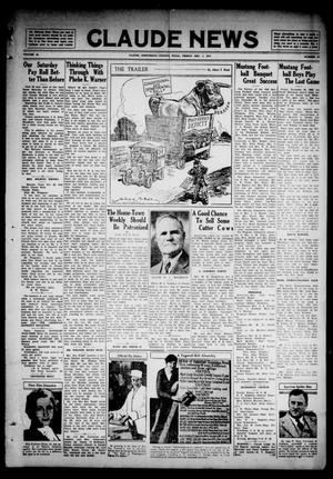 Primary view of object titled 'Claude News (Claude, Tex.), Vol. 45, No. 13, Ed. 1 Friday, December 1, 1933'.
