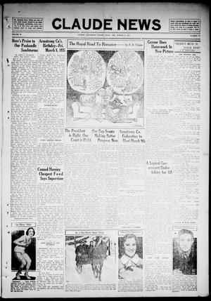 Primary view of object titled 'Claude News (Claude, Tex.), Vol. 46, No. 27, Ed. 1 Friday, March 8, 1935'.