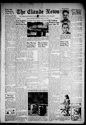 Primary view of object titled 'Claude News (Claude, Tex.), Vol. 54, No. 10, Ed. 1 Friday, October 30, 1942'.