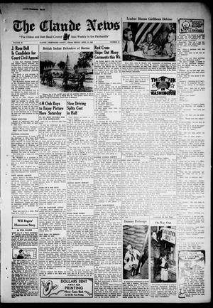 Primary view of object titled 'Claude News (Claude, Tex.), Vol. 53, No. 33, Ed. 1 Friday, April 10, 1942'.