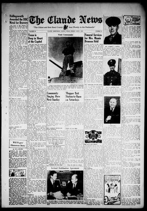 Primary view of object titled 'Claude News (Claude, Tex.), Vol. 53, No. 41, Ed. 1 Friday, June 5, 1942'.