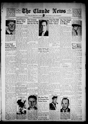 The Claude News (Claude, Tex.), Vol. 49, No. 23, Ed. 1 Friday, February 4, 1938