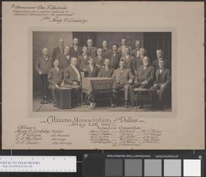 Primary view of object titled '[Citizens Association of Dallas Photograph]'.
