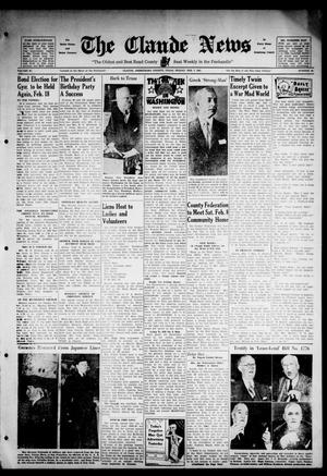 Primary view of object titled 'Claude News (Claude, Tex.), Vol. 52, No. 24, Ed. 1 Friday, February 7, 1941'.