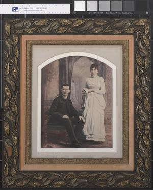 Primary view of object titled '[Wedding Portrait of Mr. & Mrs. Dan Sullivan]'.