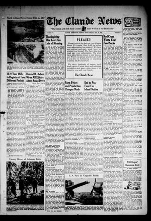 Primary view of object titled 'Claude News (Claude, Tex.), Vol. 54, No. 14, Ed. 1 Friday, November 27, 1942'.