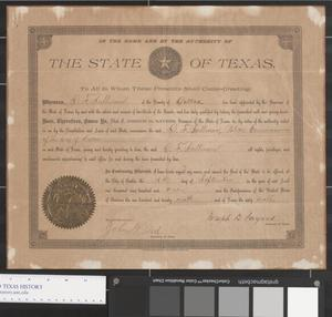 Primary view of object titled '[Police Commissioner Appointment Certificate]'.