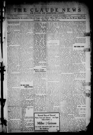 Primary view of object titled 'The Claude News (Claude, Tex.), Vol. 14, No. 2, Ed. 1 Friday, October 8, 1915'.