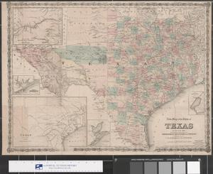 Primary view of object titled 'New Map of the State of Texas 1874'.