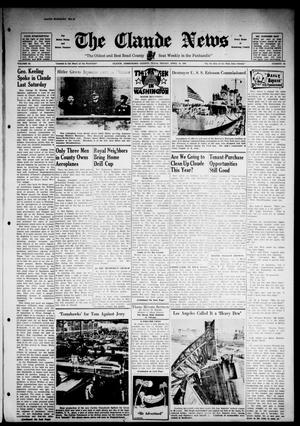 Primary view of object titled 'Claude News (Claude, Tex.), Vol. 52, No. 34, Ed. 1 Friday, April 18, 1941'.