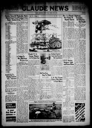 Primary view of object titled 'Claude News (Claude, Tex.), Vol. 43, No. 4, Ed. 1 Friday, October 2, 1931'.