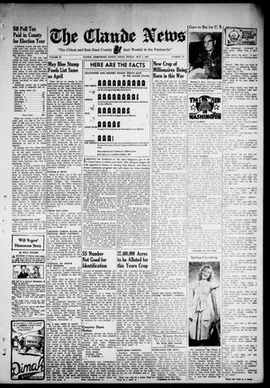 Primary view of object titled 'Claude News (Claude, Tex.), Vol. 53, No. 36, Ed. 1 Friday, May 1, 1942'.
